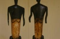 couple primitif bois et os