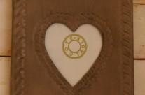 cadre métal «coeur»