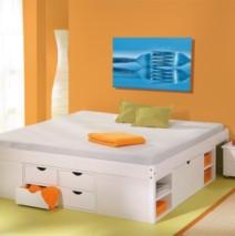 lit coffre à tiroirs