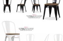 chaise métal et bois